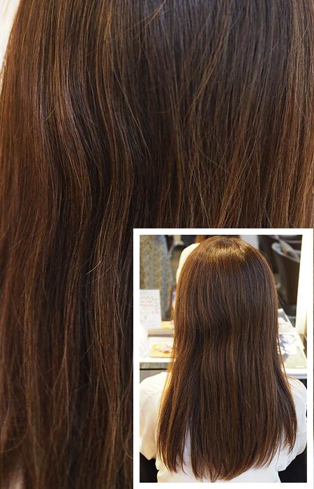 施術前の髪の状態