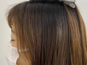 白髪の目立つヘアー