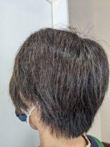 カラー前ショートヘアモデル