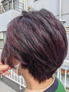 カラー後ショートヘアモデル