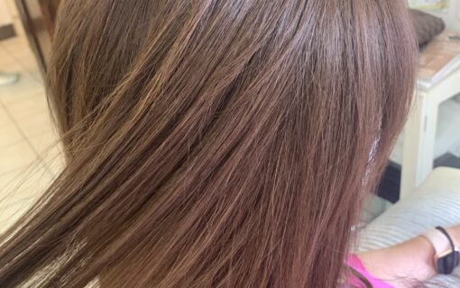 Hair color after